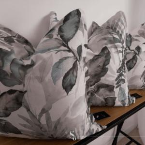 grey floral leaf cushion south africa