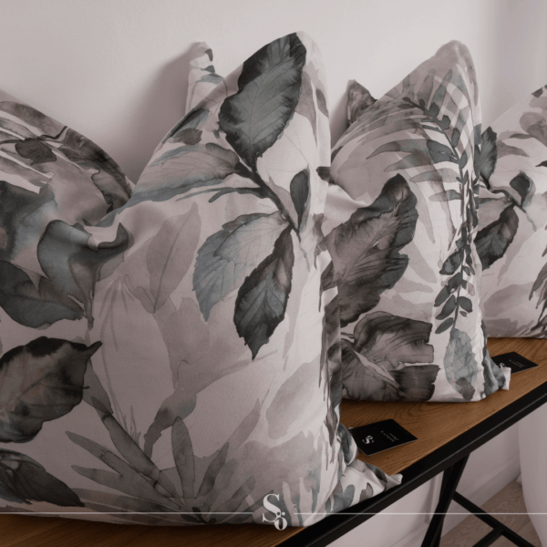 grey floral leaf cushion south africa