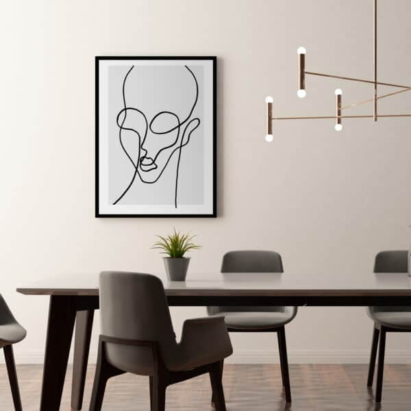 shop chloe line art print schönn south africa online