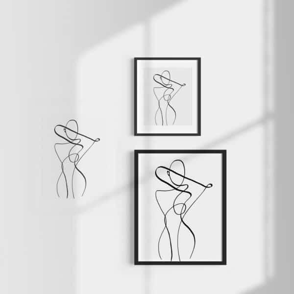 shop line art print drawing schönn south africa online